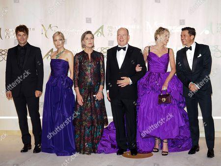 Lucas Bravo, Pom Klementieff, Princess Caroline of Hanover, Prince Albert II of Monaco, Sharon Stone and Orlando Bloom.