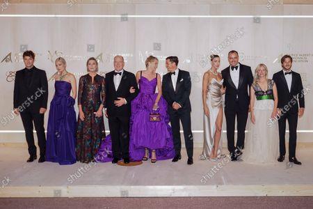 Lucas Bravo, Pom Klementieff, Princess Caroline of Hanover, Prince Albert II of Monaco, Sharon Stone, Orlando Bloom, a guest, Milutin Gatsby, Mâlanie Laurent and Gaspard Ulliel