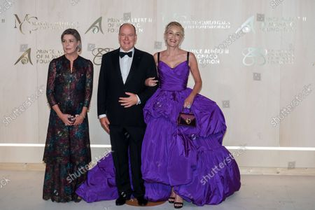 Princess Caroline of Hanover, Prince Albert II of Monaco and Sharon Stone