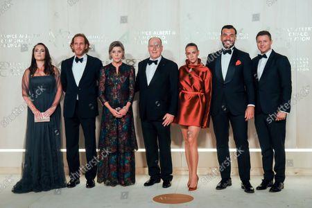 Roisin Galvin Wittstock, Andrea Casiraghi, Princess Caroline of Hanover, Prince Albert II of Monaco, Pauline Ducruet, Maxime Giaccardi and Gareth Wittstock