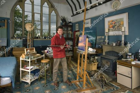 Stock Photo of Andrew Stock in his studio.