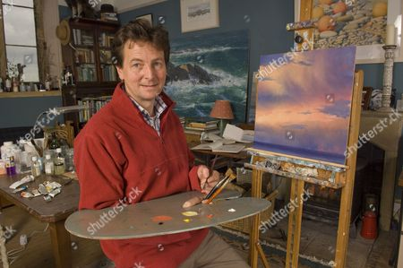 Stock Image of Andrew Stock in his studio.