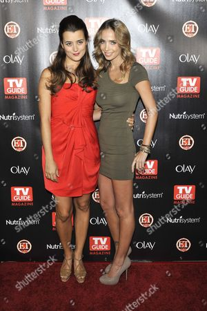 Stock Image of Cote De Pablo and Sarai Givaty