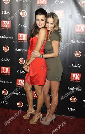 Stock Picture of Cote De Pablo and Sarai Givaty