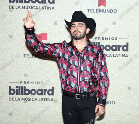 Joss Favela arrives on the red carpet at the 2021 Latin Billboard Music Awards at the University of Miami, Watsco Center, Thursday, September 23, 2021 in Coral Gables, Florida.