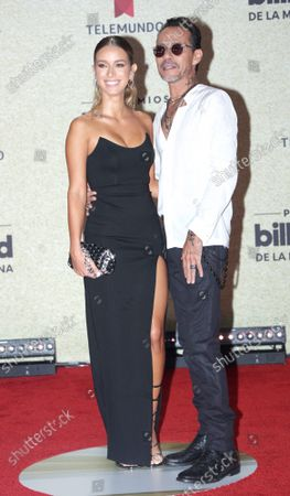 Jessica Lynne Harris and Marc Anthony arrive on the red carpet at the 2021 Latin Billboard Music Awards at the University of Miami, Watsco Center, Thursday, September 23, 2021 in Coral Gables, Florida.