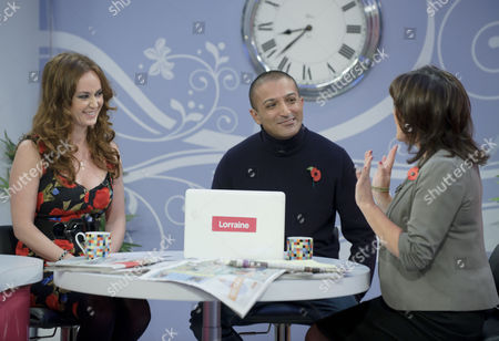 Martell Maxwell and Adil Ray with Lorraine Kelly