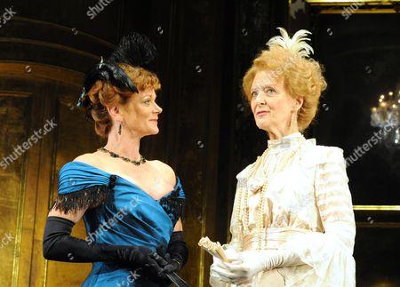 'An Ideal Husband' - Samantha Bond (Mrs Cheveley) and Caroline Blakiston (Lady Markby)