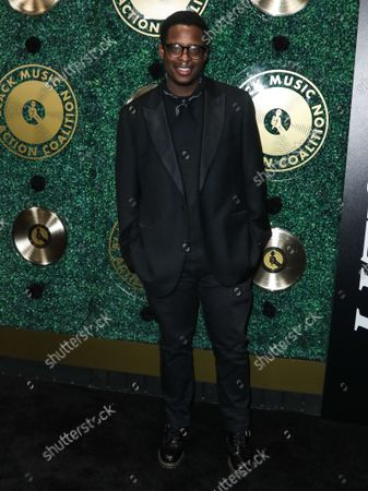 John Jahmed arrives at the 1st Annual Black Music Action Coalition's Music in Action Awards held at the 1 Hotel West Hollywood on September 23, 2021 in West Hollywood, Los Angeles, California, United States.