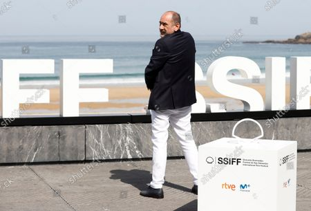 Karra Elejalde poses at the 69th edition of the San Sebastian International Film Festival (SSIFF) to present the TV series 'La Fortuna' out of competition in the Official Section within the Film Festival in San Sebastian, Spain, 24 September 2021. The festival runs from 17 to 25 September 2021.