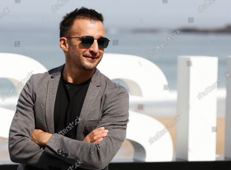 Alejandro Amenabar poses  at the 69th edition of the San Sebastian International Film Festival (SSIFF) to present the TV series 'La Fortuna' out of competition in the Official Section within the Film Festival in San Sebastian, Spain, 24 September 2021. The festival runs from 17 to 25 September 2021.