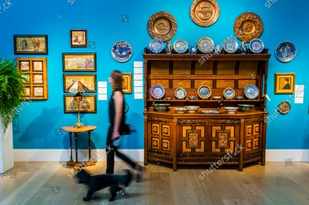 Sideboard designed by Bruce Talber, made by Gillow and Co, CIRCA 1875, Estimate GBP 10,000 - GBP 15,000 - An Aesthetic Odyssey - The Peter Rose and Albert Gallichan Collection, at Christies King Street, London. It will be offered for sale in a live auction on 30 September 2021. The couple were pioneering collectors of 19th Century fine and decorative arts and this collection was assembled over the course of a lifetime from the 1950s onwards. Ensuring that the scholarly legacy of their life's work lives on, the proceeds from the sale  - which is expected to realise in excess of £1 million, with estimates starting from £500 - will benefit The Albert Dawson Educational Trust.