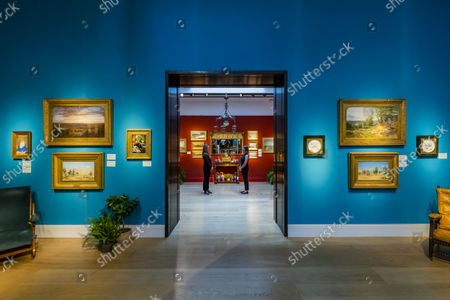 Recreating the ambience of their house - An Aesthetic Odyssey - The Peter Rose and Albert Gallichan Collection, at Christies King Street, London. It will be offered for sale in a live auction on 30 September 2021. The couple were pioneering collectors of 19th Century fine and decorative arts and this collection was assembled over the course of a lifetime from the 1950s onwards. Ensuring that the scholarly legacy of their life's work lives on, the proceeds from the sale  - which is expected to realise in excess of £1 million, with estimates starting from £500 - will benefit The Albert Dawson Educational Trust.