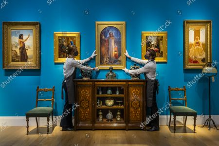 William Holman Hunt's masterpieceThe Light of the World (C estimate: £60,000-100,000) - An Aesthetic Odyssey - The Peter Rose and Albert Gallichan Collection, at Christies King Street, London. It will be offered for sale in a live auction on 30 September 2021. The couple were pioneering collectors of 19th Century fine and decorative arts and this collection was assembled over the course of a lifetime from the 1950s onwards. Ensuring that the scholarly legacy of their life's work lives on, the proceeds from the sale  - which is expected to realise in excess of £1 million, with estimates starting from £500 - will benefit The Albert Dawson Educational Trust.