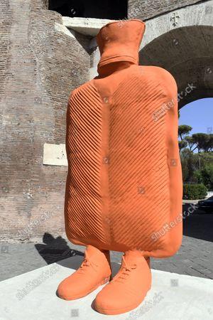 """Editorial picture of The exhibition, """"Via Veneto Contemporanea"""", an open-air exhibition by Erwin Wurm, Rome, Italy 24 Sept 2021 - 24 Sep 2021"""