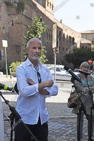 """Editorial image of The exhibition, """"Via Veneto Contemporanea"""", an open-air exhibition by Erwin Wurm, Rome, Italy 24 Sept 2021 - 24 Sep 2021"""