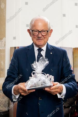 Pieter Van Vollenhoven at the opening of the Silver Museum in Doesburg.