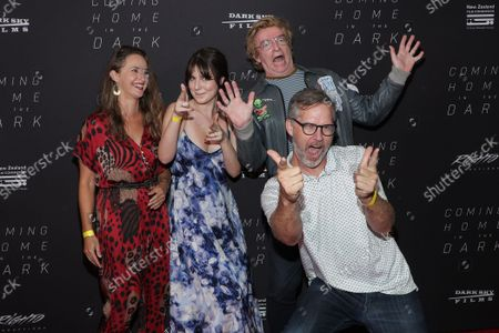 Fleur Saville, Halina Brooke, Rhys Darby and Buttons