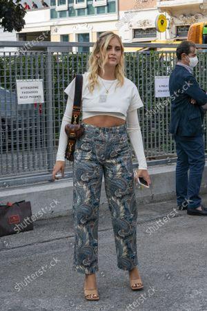 Valentina Ferragni Street Style outside the Etro Show