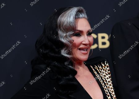 Michelle Visage arrives at the 73rd Emmy Awards at the JW Marriott on at L.A. LIVE in Los Angeles