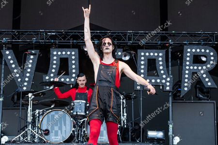 Stock Photo of Johannes Eckerstrom of Avatar performs at Louder Than Life Festival 2021 at Highland Festival Grounds, in Louisville, Ky