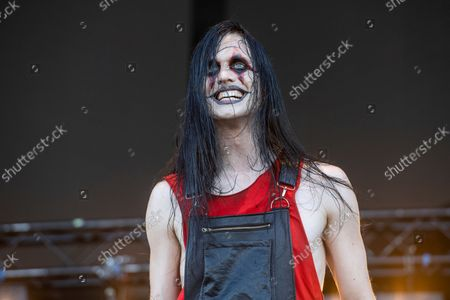Johannes Eckerstrom of Avatar performs at Louder Than Life Festival 2021 at Highland Festival Grounds, in Louisville, Ky