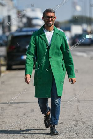 Editorial photo of Street Style, Spring Summer 2022, Milan Fashion Week, Milan, Italy - Sep 2021