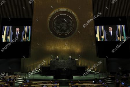 Editorial picture of UN General Assembly Denmark, United Nations - 24 Sep 2021