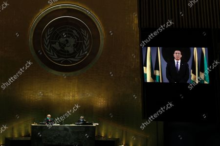 Editorial photo of UN General Assembly Denmark, United Nations - 24 Sep 2021