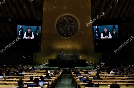 Editorial photo of General Debate of United Nations General Assembly, New York, United States - 24 Sep 2021