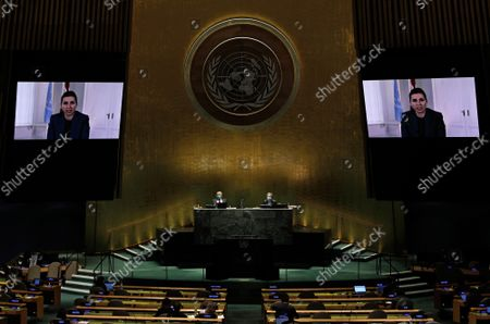 Editorial image of General Debate of United Nations General Assembly, New York, United States - 24 Sep 2021