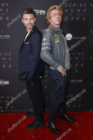 Daniel Gillies (L) and New Zealand actor Rhys Darby (R) attend the Coming Home in the Dark premiere at The London West Hollywood Hotel in West Hollywood, California, USA, 24 September 2021. The film will be released in US theaters 01 October 2021.