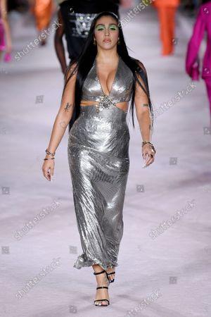 Lourdes Maria Ciccone Leon on the catwalk