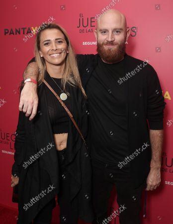 Stock Photo of Carlos Santos Campos (right) and guest attend the El Juego De Las Llaves 2 Special Screening on Fri, Sept 24 in Los Angeles.