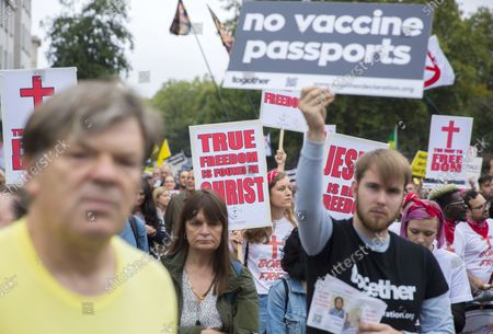 Editorial picture of Medical Freedom March, London, UK - 25 Sep 2021