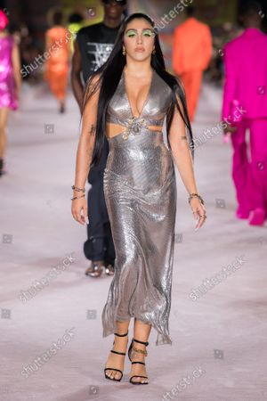 Stock Picture of Lourdes Maria Ciccone Leon on the catwalk