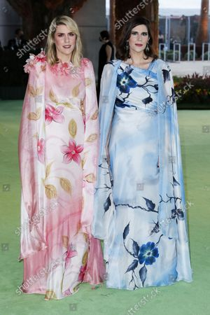Kate Mulleavy (L) and Laura Mulleavy (R) pose on the the red carpet on arrival for the opening gala of the Academy Museum of Motion Pictures in Los Angeles, California, USA, 25 September 2021. The museum is set to open to the public on 30 September 2021.