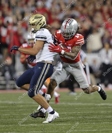 Editorial picture of NCAA Ohio State  Akron, Columbus, United States - 25 Sep 2021