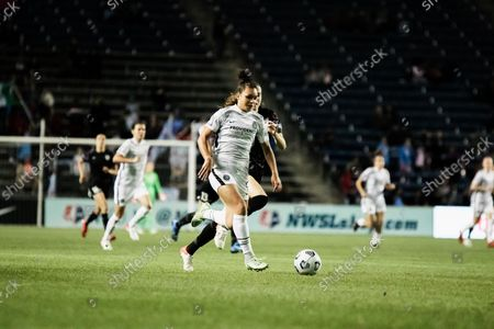 Stock Image of Sophia Smith #9, Portland Thorns in action during the match on September 25 at Seat Geek Stadium