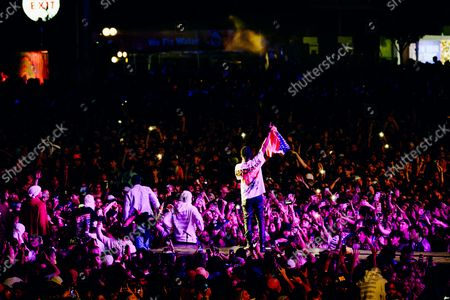 ASAP Rocky performs