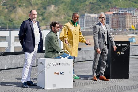 (L-R) Manolo Solo, Karra Elejalde, T'nia Miller and Stanley Tucci