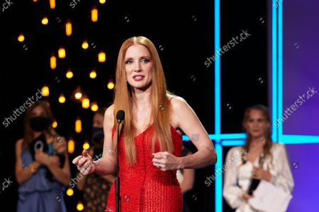 The American actress Jessica Chastain Receives The Silver Concah of the 69th San Sebastian Film Festival in San Sebastian, Spain on September 25, 2021.