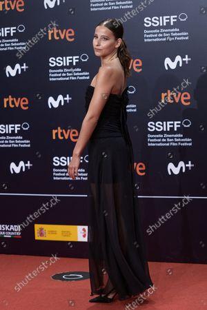 Irene Escolar attends the red carpet of the closing gala of the 69th San Sebastian Film Festival./ Coolmedia. Yurena Paniagua. San Sebastian. Spain