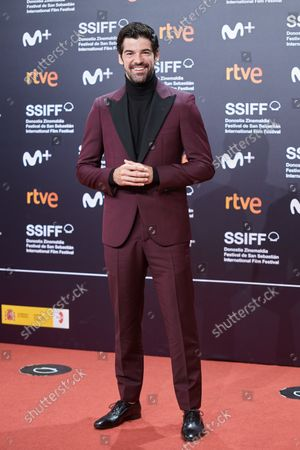 Stock Image of Miguel Angel Muñoz attends the red carpet of the closing gala of the 69th San Sebastian Film Festival./ Coolmedia. Yurena Paniagua. San Sebastian. Spain
