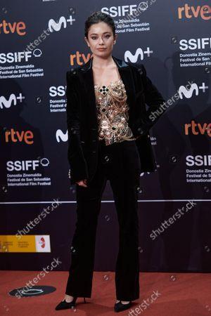 Stock Photo of Ana Castillo attends the red carpet of the closing gala of the 69th San Sebastian Film Festival./ Coolmedia. Yurena Paniagua. San Sebastian. Spain