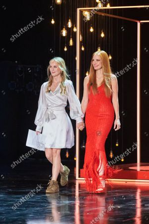 "The American actress Jessica Chastain and Danish actress Flora Ofelia Receives The ""Concha de Plata"" of the 69th San Sebastian Film Festival in San Sebastian, Spain on September 25, 2021."