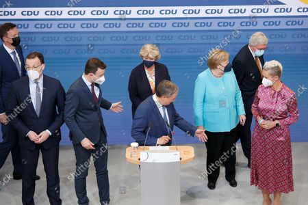 Editorial image of CDU election party after German general elections, Berlin, Germany - 26 Sep 2021