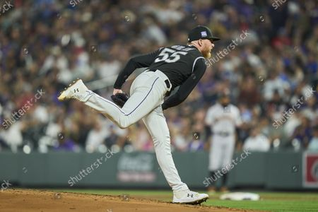 Editorial picture of MLB Dodgers vs Rockies, Denver, USA - 25 Sep 2021