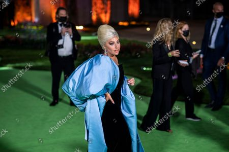 Lady Gaga on the green carpet of the Opening Gala for the Academy Museum of Motion Pictures, in Los Angeles, CA, Saturday, Sept. 25, 2021. (Jay L. Clendenin / Los Angeles Times)