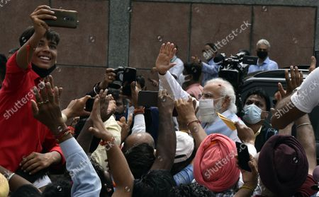Editorial picture of Prime Minister Narendra Modi Back In India After Concluding 3-Day US Tour, NEw DElhi, Delhi - 26 Sep 2021